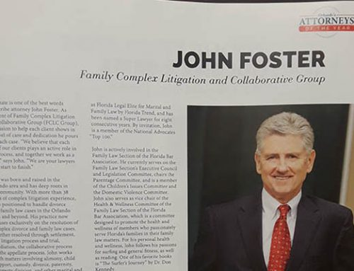 John Foster Named as One of Orlando's Attorneys of the Year for 2019