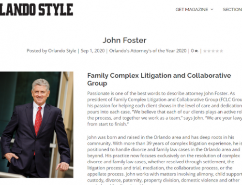 John Foster Named as One of Orlando's Attorneys of the Year for 2020
